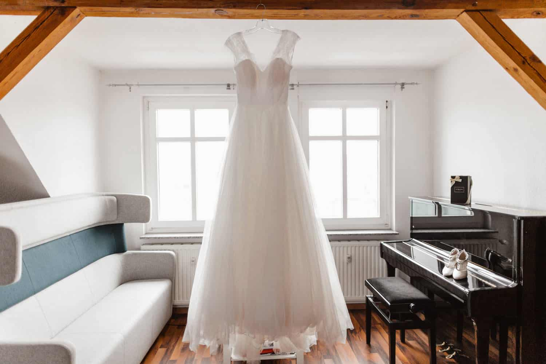 Brautleid Winterhochzeit Schloss Wulkow Hochzeit