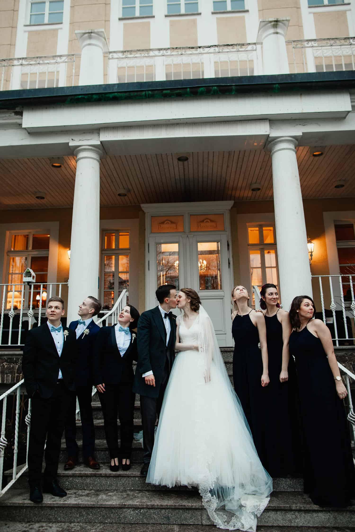 Schloss wulkow Winter Hochzeit Hochzeitsfotograf Berlin Vasil Bituni
