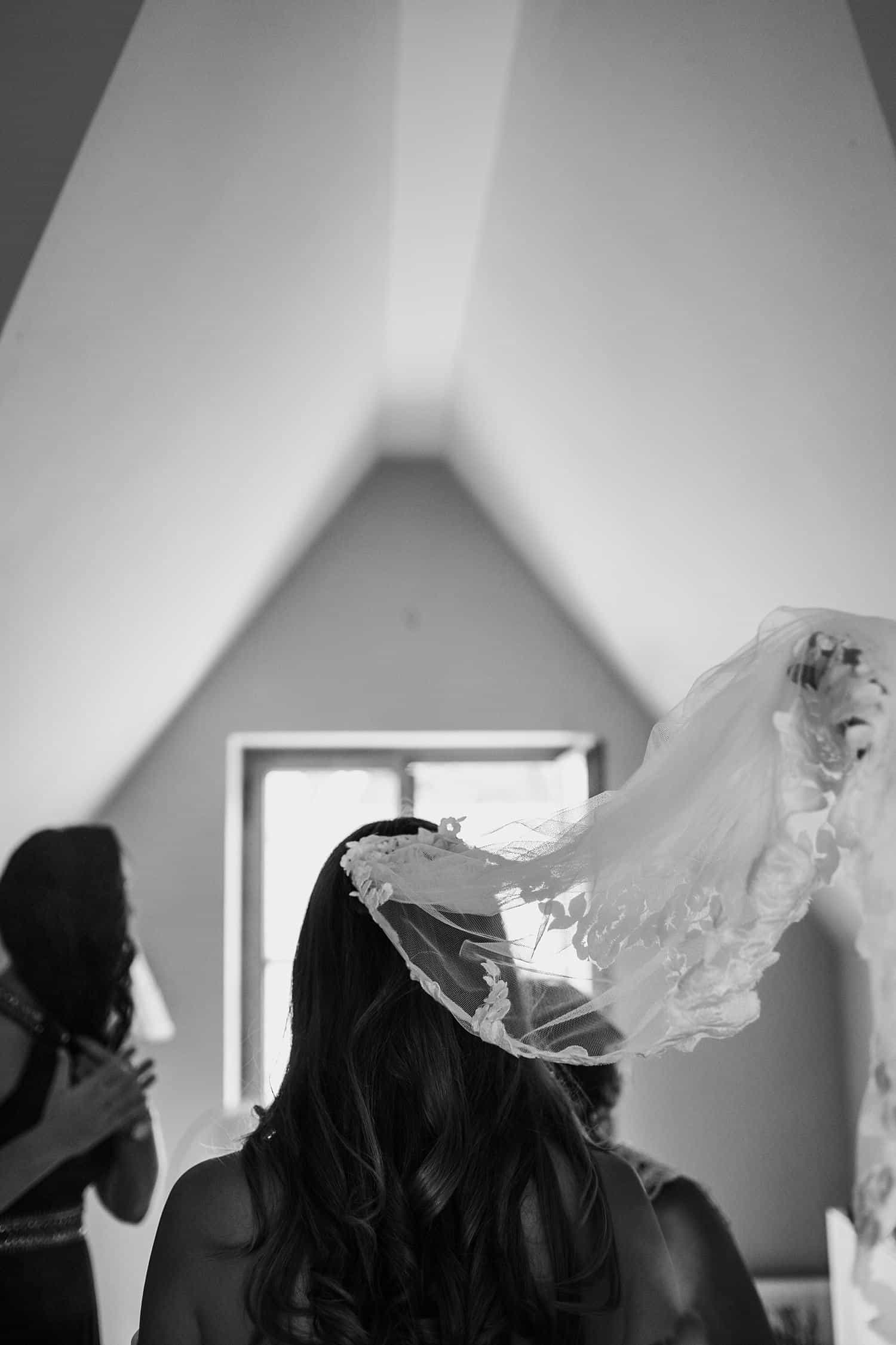 Braut Getting Ready,